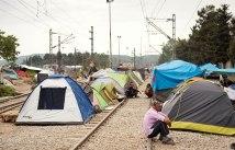 Zelte im Flüchtlingslager Idomeni