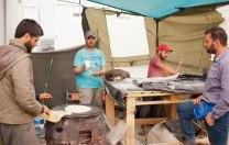 """""""Bäckerei"""" im Flüchtlingslager Idomeni"""