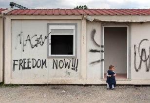 Kind im Flüchtlingslager Idomeni