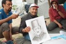 Ein Künstler im Flüchtlingslager Idomeni