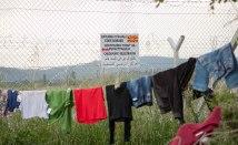 Grenzzaun im Flüchtlingslager Idomeni