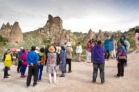 Asiatische Touristen in Göreme