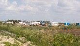Illegales Flüchtlingslager in de Nähe von Karatas