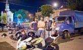 v.l.: Hassan, Shamil, Evgeny und Arina