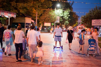 Auf dem Jahrmarkt in Shymkent.