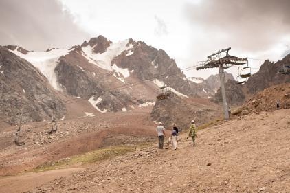 Skigebiet Schimbulak bei Almaty