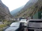 Megastau an der Georgisch-Russischen Grenze