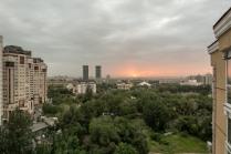 Sonnenuntergang über Almaty.