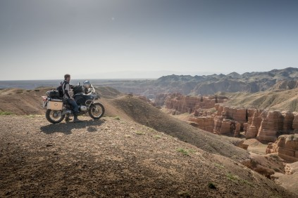 Am Charyn Canyon in Kasachstan.