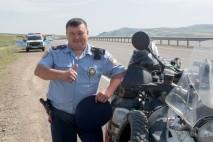 Kasachische Polizisten.