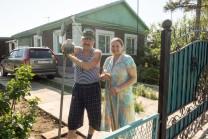 Russisches Ehepaar in Podsosnowo, ebenfalls ehemals Deutscher Ort