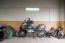 Abstellort in der Garage von Kostias Schwiegereltern