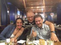 Mit Kostia und Ludmilla
