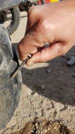 Schraube in Valis Reifen