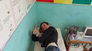 Mischa in der Krankenstation