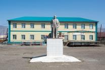 Die Stadt Cosh Agach, letzter größerer russischer Ort vor der Grenze.