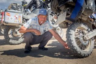 Unsere Motorräder stoßen immer auf großese Interesse