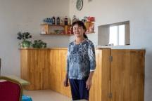 Gaststube unserer Unterkunft in Olghii