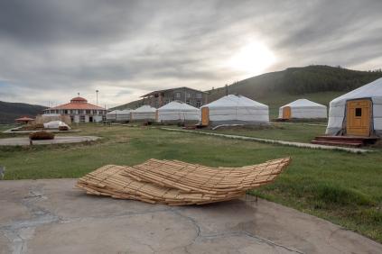 Das Camp an den heißen Quellen bei Zenkher