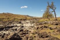 Der asugetrocknete Wasserfall am Olchon