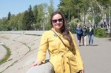 Olga am Ufer der Angara