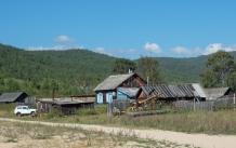 typisches sibirisches Wohnhaus