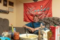 Clubheim der Biker in Mogocha, im Bild: Sascha