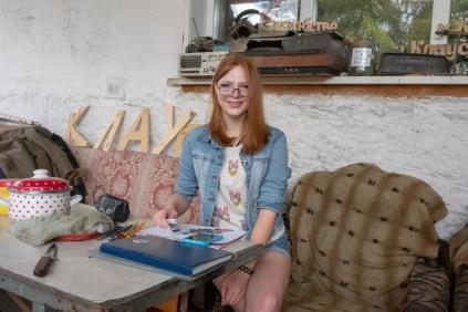 Jekaterinoslawka. Im Bild: Vityas Tochter Lena