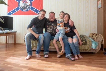 Chabarowsk, mit Mischa, Tascha und Sohn Lev