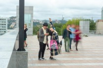 Asiatische Touristen in Wladiwostok